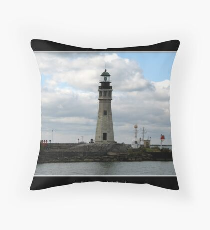 Buffalo Main Lighthouse #4 Throw Pillow