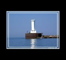 Buffalo Breakwater Lighthouse by Rose Santuci-Sofranko