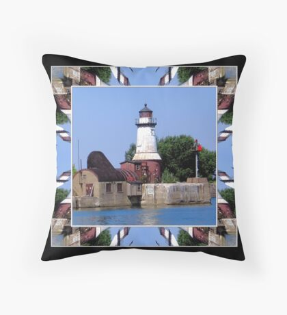 Buffalo Southside Lighthouse Throw Pillow