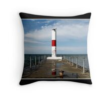 Rochester Harbor Lighthouse Throw Pillow