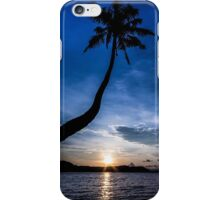 The silhouette of coconut tree during sunset iPhone Case/Skin