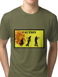 Caution! Tri-blend T-Shirt