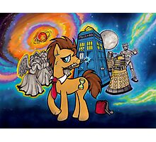 Doctor Whooves - Galaxy Photographic Print