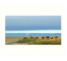 Hervey Bay Camel Caravan  Art Print