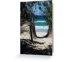 Pathway to Dreamtime Beach, at Fingal NSW Greeting Card