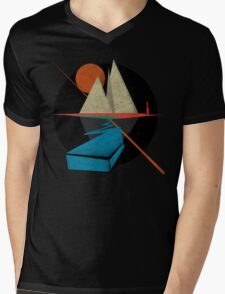 Mountain & Stars Mens V-Neck T-Shirt
