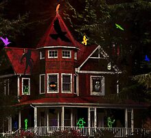 CHILDRENS SPOOK HOUSE BOOK COVER by RoseMarie747