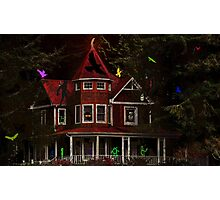 CHILDRENS SPOOK HOUSE BOOK COVER Photographic Print