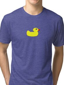 Beautiful Rubber Ducky Sticker - Duck Duvet Bedspread Tri-blend T-Shirt