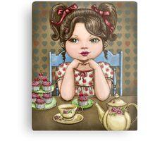 cupcakes and tea Metal Print