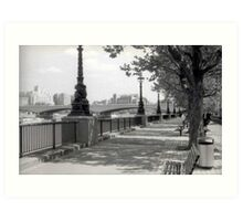 Queen's Walk - London Art Print