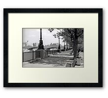 Queen's Walk - London Framed Print