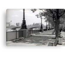 Queen's Walk - London Canvas Print