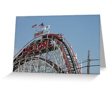 Riding the Cyclone Greeting Card