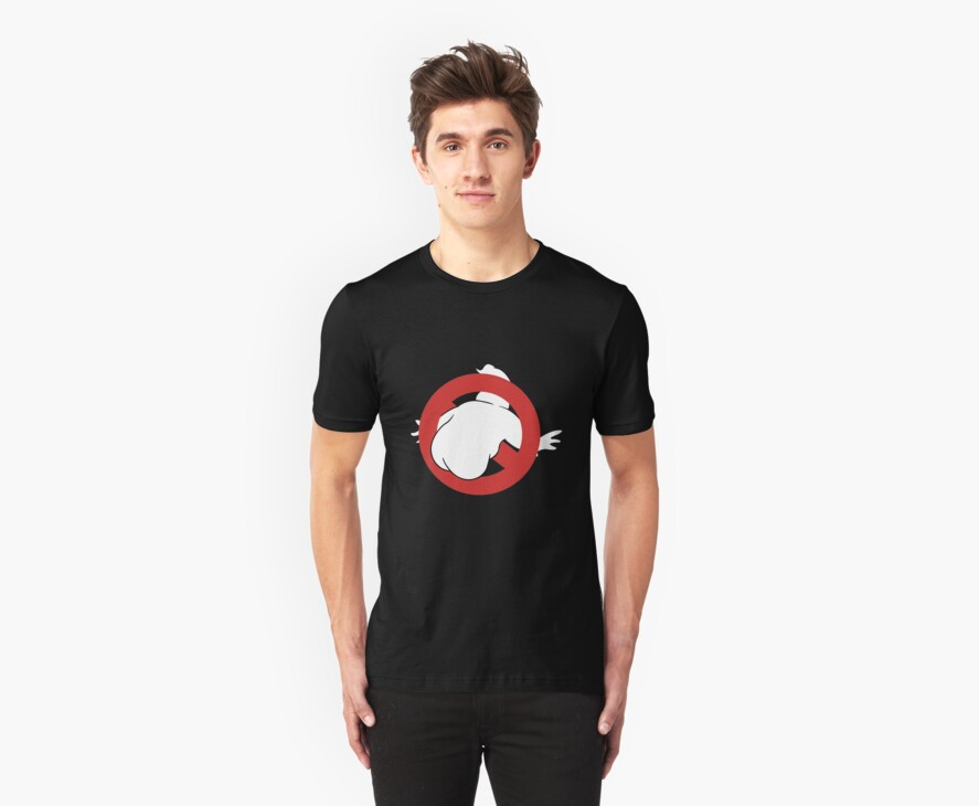 Ghost Buttsters T shirt by gabrielng