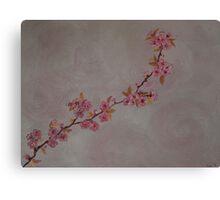 Blossoms in the rain Canvas Print