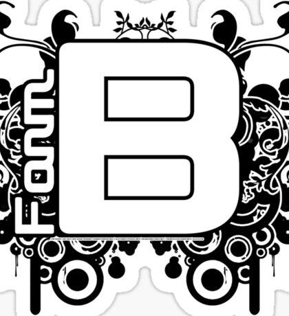 Form B Music 11 April 2011 Sticker