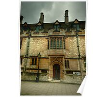 St Cross College Oxford Poster