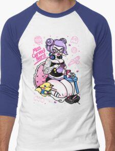 Miss Curved - Full Design Men's Baseball ¾ T-Shirt