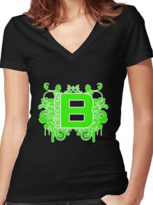 Be Green Records 11 April 2011 Women's Fitted V-Neck T-Shirt