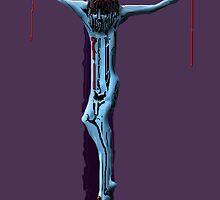 Blue Christ on the Cross by Dulcina
