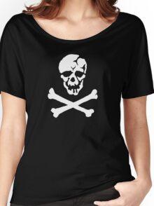 Skull Squadron (white skull) Women's Relaxed Fit T-Shirt