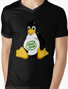 Linux Inside Mens V-Neck T-Shirt
