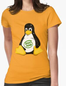 Linux Inside Womens Fitted T-Shirt