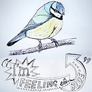 Blue Tit by Claire Dimond