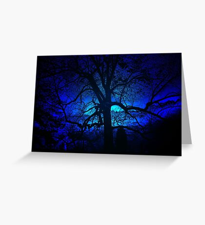 ~blue moon~ Greeting Card