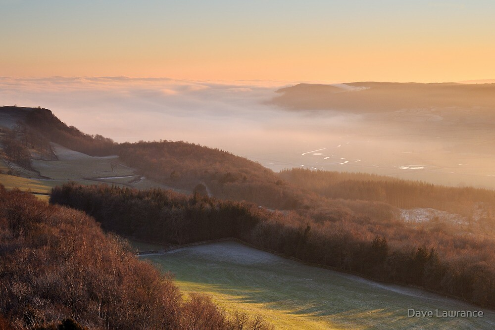 Temperature inversion - Scout Scar, Kendal by Dave Lawrance