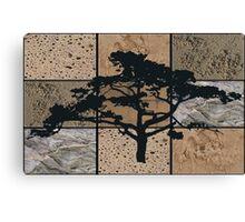 Land, Air & Sea - textured collage Canvas Print