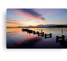 Budgewoi Lake Sunrise..15-4-11. Canvas Print