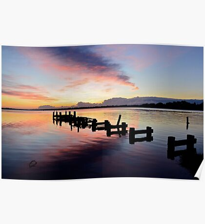 Budgewoi Lake Sunrise..15-4-11. Poster