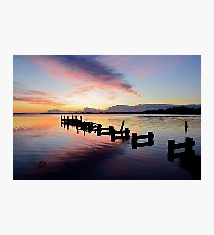 Budgewoi Lake Sunrise..15-4-11. Photographic Print