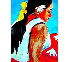 La Femme  de Tahiti Photographic Print
