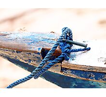 Anchored Old Wooden Boat Photographic Print