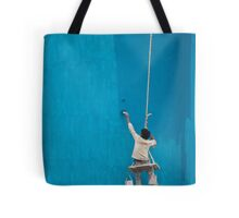Painter at work Tote Bag