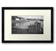 Summercove Cottage Framed Print