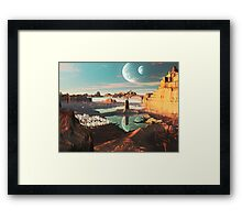 New Santorini Sunset  Framed Print