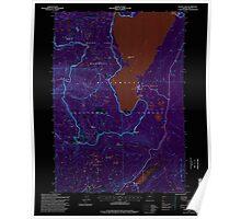 USGS Topo Map Oregon Waldo Lake 281984 1997 24000 Inverted Poster