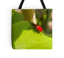 Lily Beetle Tote Bag
