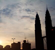 silhouette kl tower-malaysia by elmocca