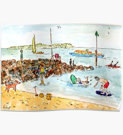 Beach Fun - Bournemouth England Poster