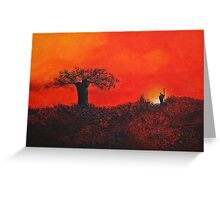 Serengeti Sky Greeting Card