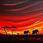 Two Elephants on the Horizon by Shirley Shelton
