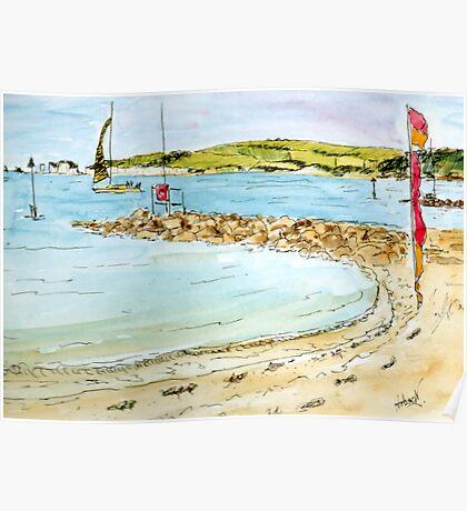 Sandbanks Beach - Bournemouth, England Poster