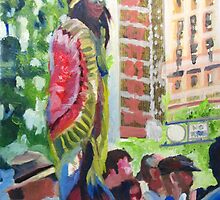 Gay Parade Observers (painting) by Tomoe Nakamura