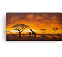 Golden Savannah Canvas Print