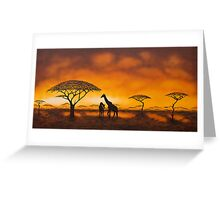 Golden Savannah Greeting Card
